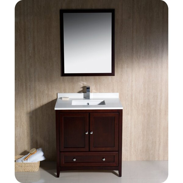 Oxford 30 Single Bathroom Vanity Set with Mirror by Fresca
