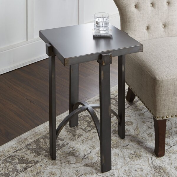 Baratta Distressed End Table by Ivy Bronx