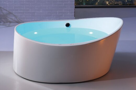 Round Free Standing Acrylic Air Bubble 66 x 66 Bathtub by EAGO