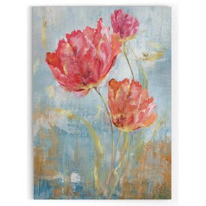 'Floral Dance II' Watercolor Painting Print on Wrapped Canvas by Latitude Run