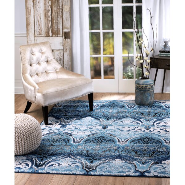 Moorcroft Blue Area Rug by Bungalow Rose