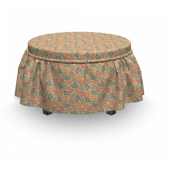 Home Décor Leaves Ottoman Slipcover (Set Of 2)