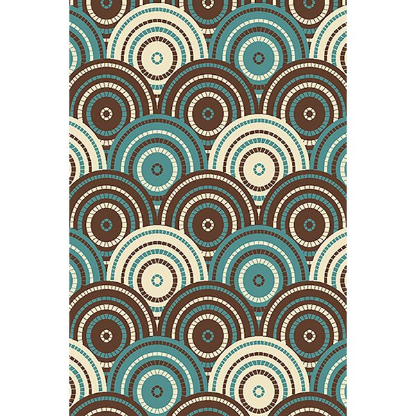 Magdaleno Blue/Brown Area Rug by Latitude Run