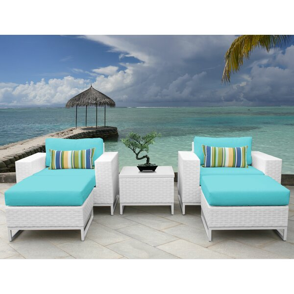 Miami 5 Piece Conversation Set with Cushions by TK Classics
