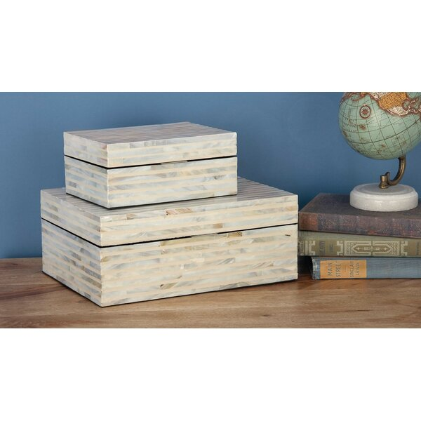 Wood Mop 2 Piece Decorative Box Set by Cole & Grey