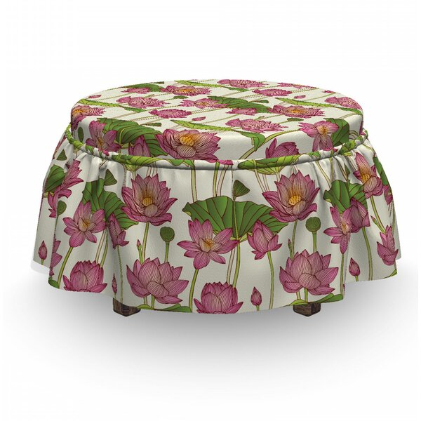 Flowers Ottoman Slipcover (Set Of 2) By East Urban Home