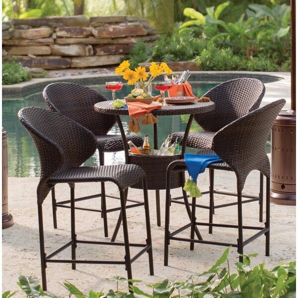 Nicodemus 5 Piece Bistro Set by Mercury Row