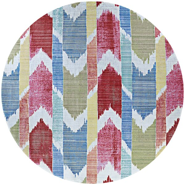 Beyer Red/Blue Indoor/Outdoor Area Rug by Bungalow Rose