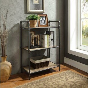 Review Croce Industrial 3 Tier Shelf Etagere Bookcase by 17 Stories