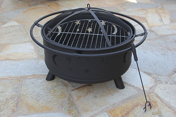 Celestial Steel Wood Burning Fire Pit by Fire Pit Essentials