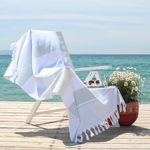 Summer Loving Pestemal Turkish Cotton Beach Towel by Linum Home Textiles