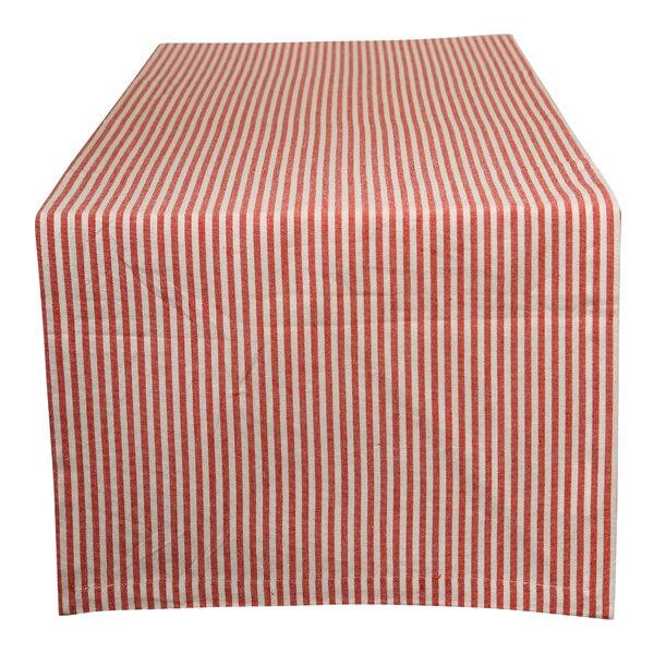 Lyndsay Stripes Cotton Table Runner by Winston Porter