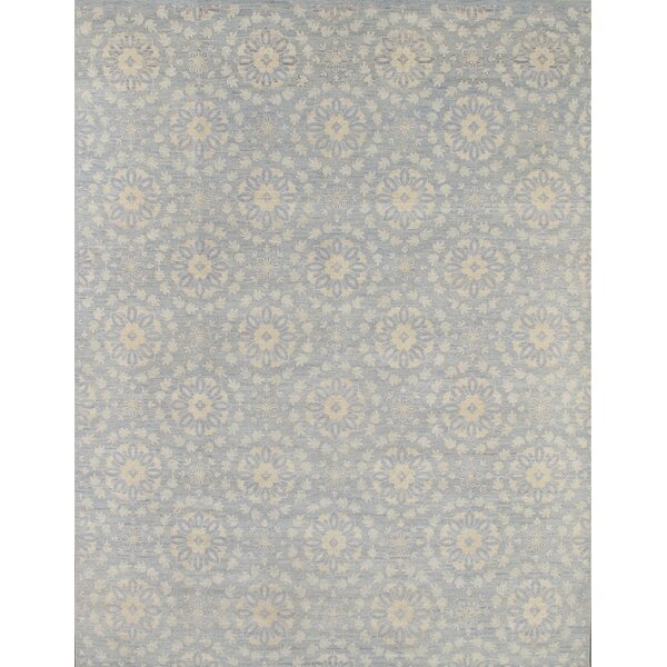Transitiona Hand-Knotted Light Blue Area Rug by Pasargad