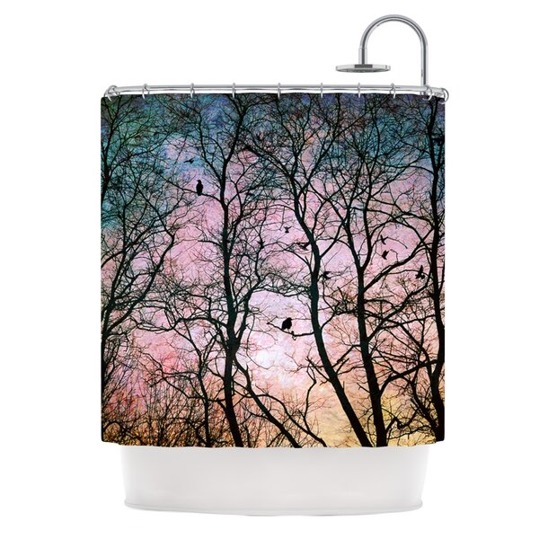 The Birds Polyester Shower Curtain by KESS InHouse