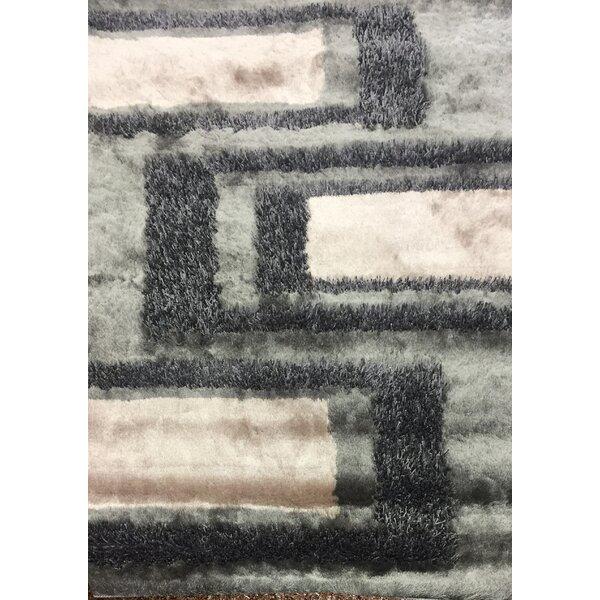 Cuthbertson Geometric Design Hand-Woven Gray/Beige Area Rug by Corrigan Studio