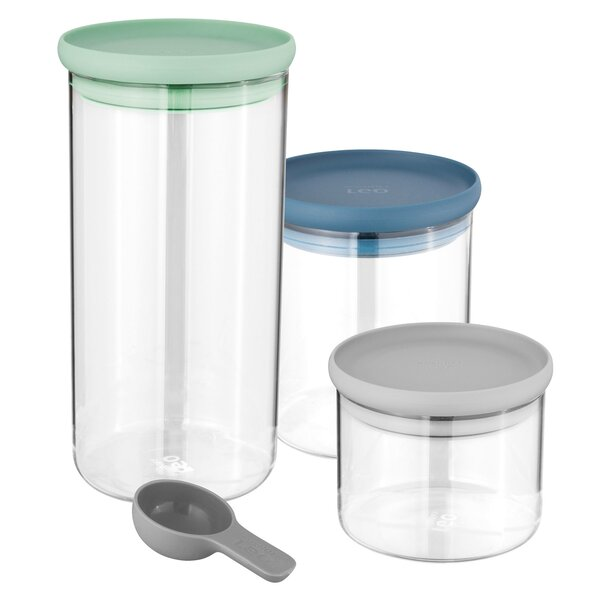 Leo 3 Piece Glass Food Storage Container Set by BergHOFF International