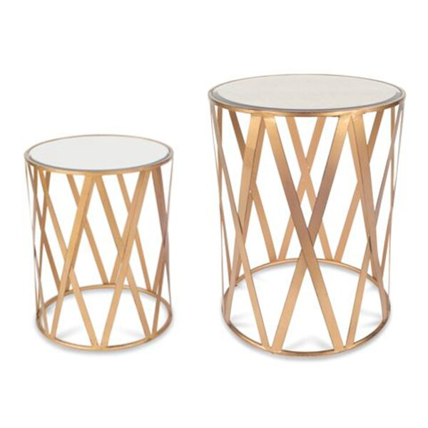 Alecto Drum 2 Piece End Table by Everly Quinn