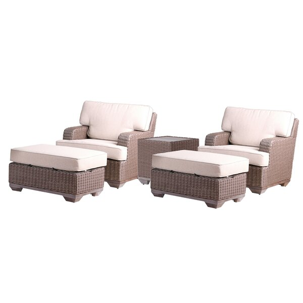 Simge 5 Piece Sofa Seating Group with Sunbrella Cushions by Latitude Run
