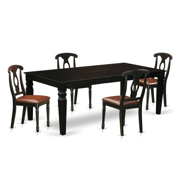 Beesley 5 Piece Black/Cherry Dining Set by Darby Home Co