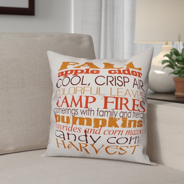 Favorite Fall Things Throw Pillow by The Holiday Aisle