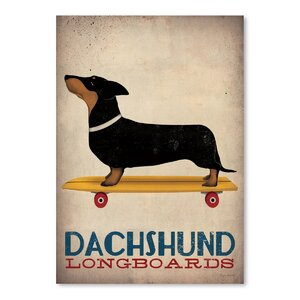 'Dachshund Longboards' Vintage Advertisement by East Urban Home