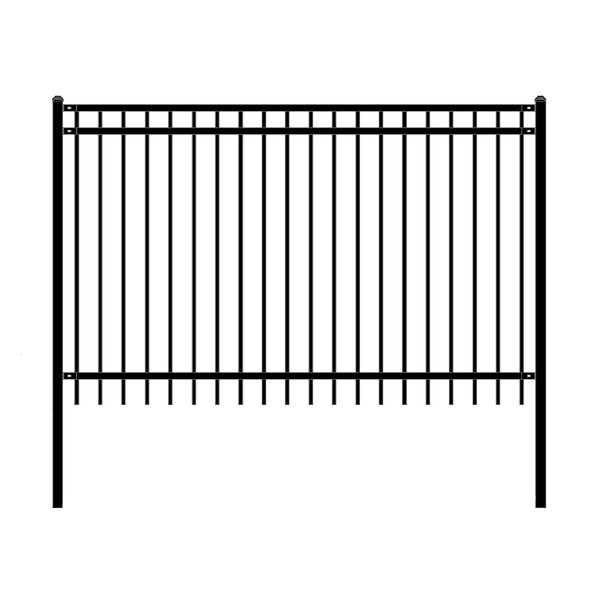 8 ft. W Nice DIY Unassembled Steel Fence Panel by ALEKO