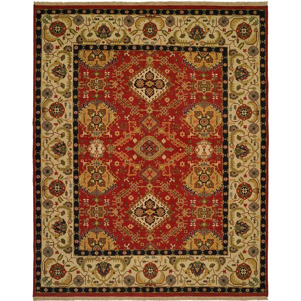 Oriental Handwoven Red/Ivory Rug