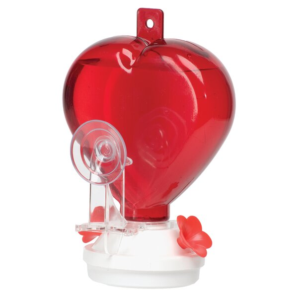 Window Heart Hummingbird Feeder by Akerue Industries