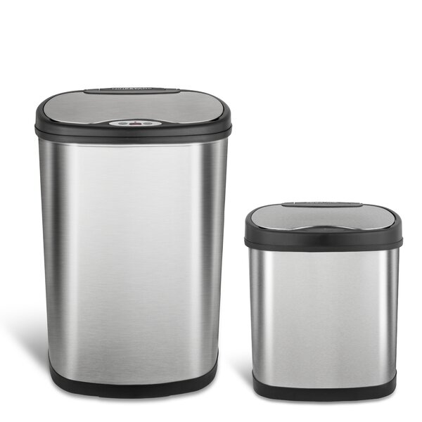Nine Stars Motion Sensor Trash Can Set by Nine Stars