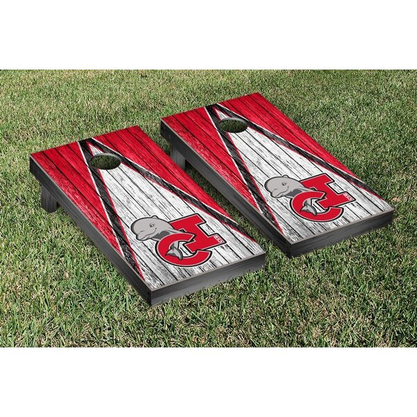 California State Channel Islands Dolphins Triangle Weathered Version Cornhole Game Set by Victory Tailgate