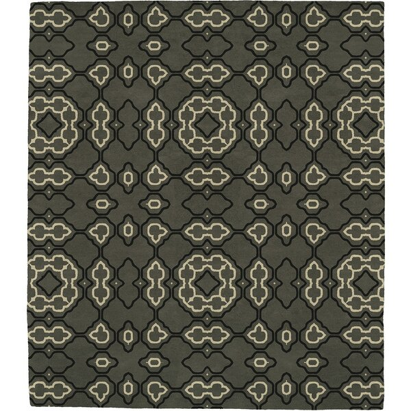 Morrilton Patterned L Signature Hand-Tufted Wool Gray Area Rug