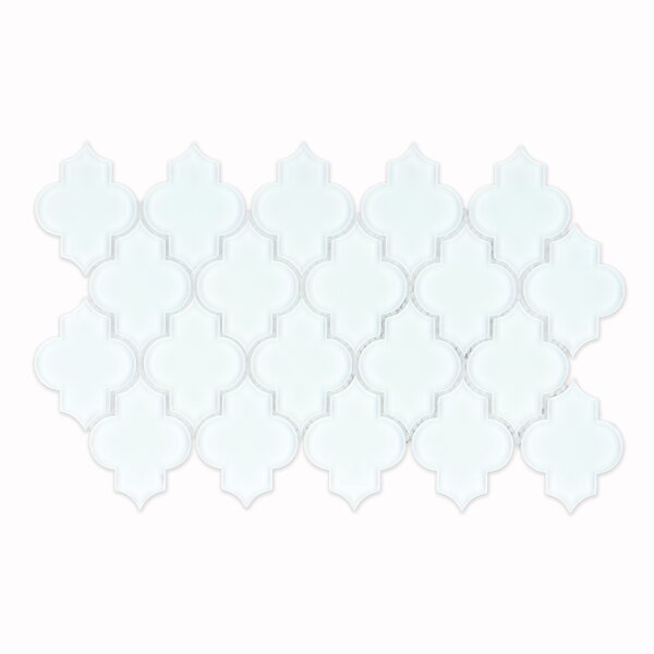 La Palma Glass Mosaic Tile in Glossy White by Grayson Martin