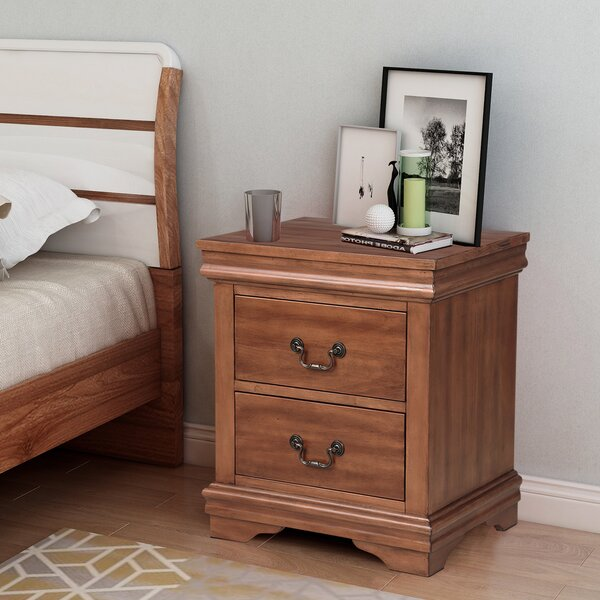 Workington Rectangular 2 Drawer Nightstand by Canora Grey
