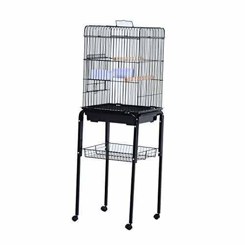 Fremont Rolling Bird Cage Starter Kit with Casters by Tucker Murphy Pet