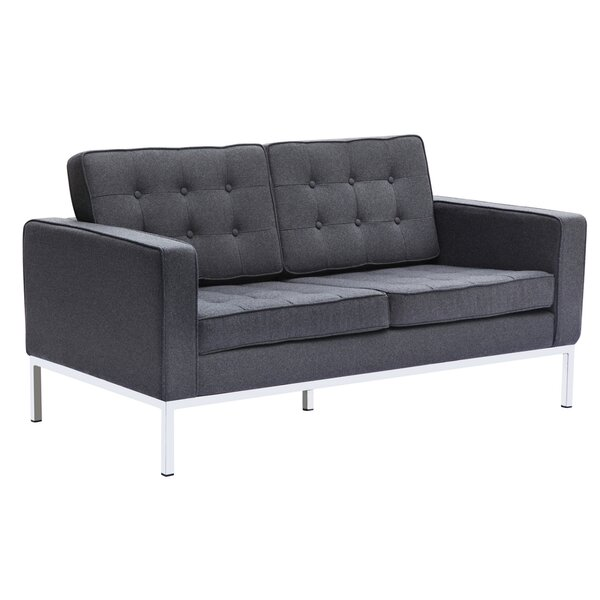 Button Loveseat by Fine Mod Imports