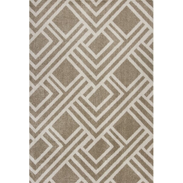 Lowesdale Geometric Beige Indoor/Outdoor Area Rug by George Oliver