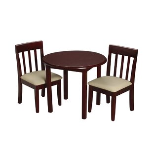 Inexpensive Children's 3 Piece Round Table and Chair Set ByGift Mark