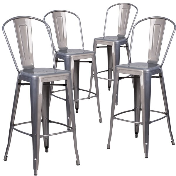 Guillelmina 30'' Bar Stools (Set of 4) by 17 Stories