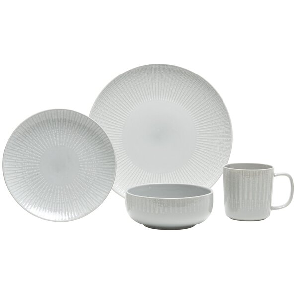 Optic 16 Piece Dinnerware Set, Service for 4 by Baum