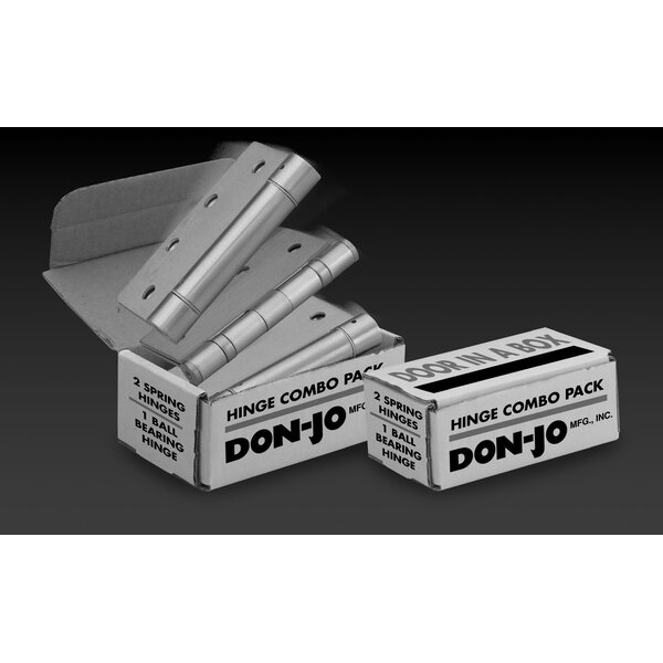 4.5 H x 4.5 W Butt/Ball Bearing Door Hinges Set by DON-JO MFG INC.