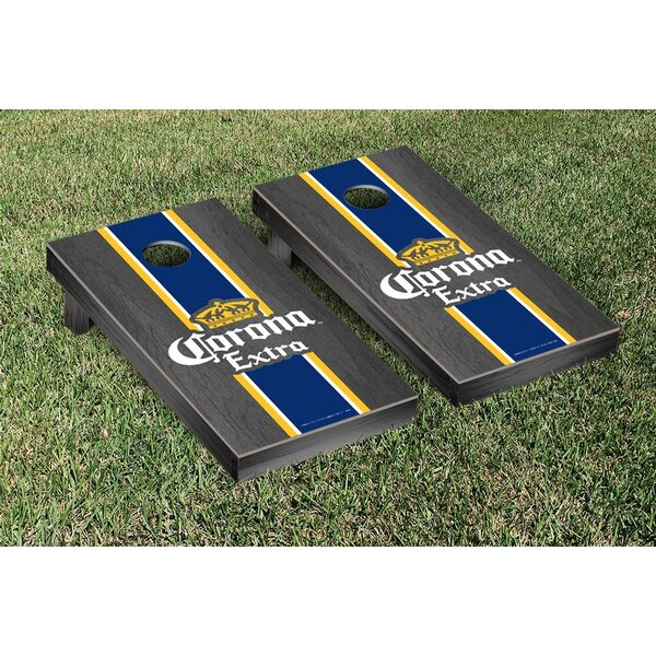 Stained Stripe Version Corona Cornhole Game Set by Victory Tailgate