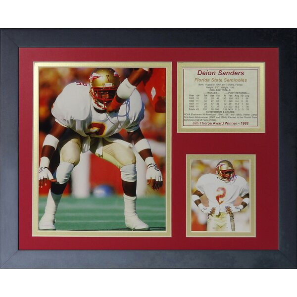Deion Sanders Florida State Framed Memorabilia by Legends Never Die