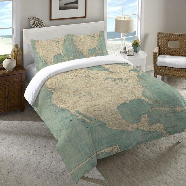 Arabelle North America Map Single Duvet Cover