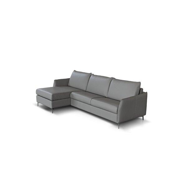 Benavidez Leather Reversible Sleeper Sectional By Corrigan Studio