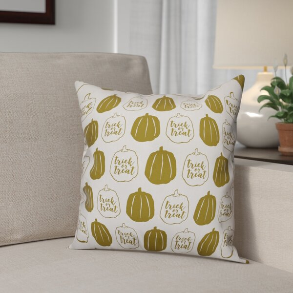 Pumpkins Throw Pillow by The Holiday Aisle