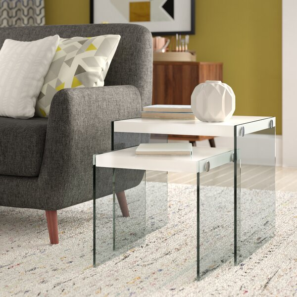 Liberty 2 Piece Nesting Tables by Wade Logan