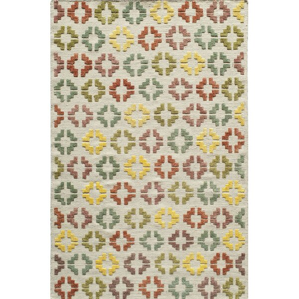 Kasa Hand-Woven Ivory Area Rug by Bungalow Rose