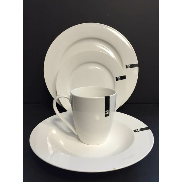 Classic Royal 16 Piece Dinnerware Set, Service for 4 by Safdie & Co. Inc.