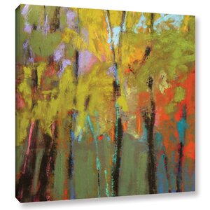 'Trees Three' Painting Print on Wrapped Canvas by Latitude Run