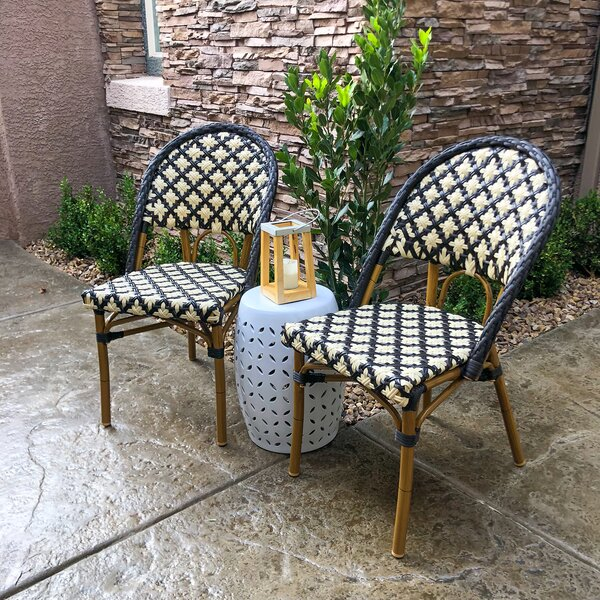 Kingery Bamboo Stacking Patio Dining Chair by Ophelia & Co.